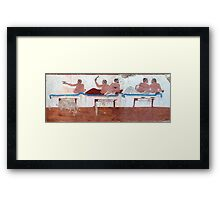 Tomb of the Diver (North wall), Paestum Framed Print