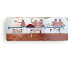 Tomb of the Diver (North wall), Paestum Metal Print