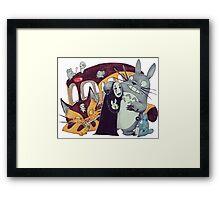 Ghibli Collab Framed Print