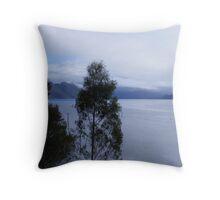 the sun has arrived this morning on Lake Mackintosh,  Tasmania Throw Pillow