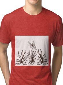 Florals & Fluttery Tri-blend T-Shirt