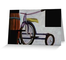 """Trike & Barrel"" original trypytch artwork Greeting Card"