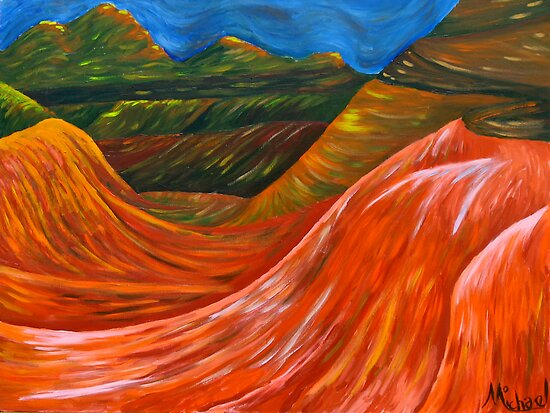 """""""Mountainsl"""" original nature painting on canvas by Michael Arnold"""