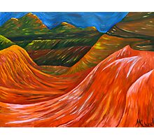 """""""Mountainsl"""" original nature painting on canvas Photographic Print"""