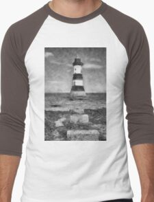Penmon Lighthouse Men's Baseball ¾ T-Shirt