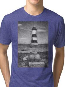 Penmon Lighthouse Tri-blend T-Shirt