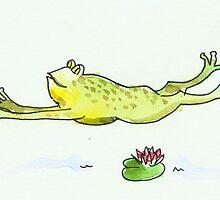 Running Frog by Tama Blough