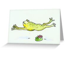 Running Frog Greeting Card