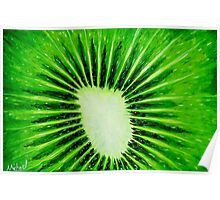 """Kiwi Explosion"" original pop art nature painting Poster"