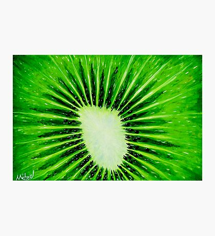 """Kiwi Explosion"" original pop art nature painting Photographic Print"