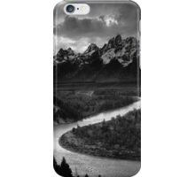 Ansel Adams The Tetons and the Snake River (1942) Grand Teton National Park, Wyoming iPhone Case/Skin
