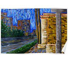 """Daytona Beach"" original signed acrylic painting on canvas Poster"
