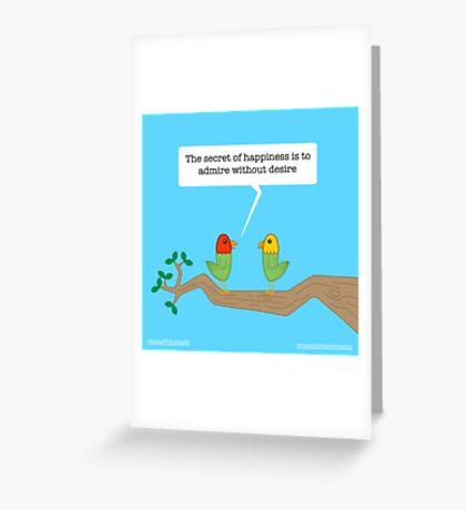 Birds of Wisdom Greeting Card