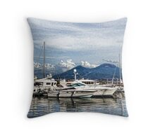 Vesuvius and Naples Harbor - Mediterranean Impressions Throw Pillow