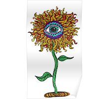 Psychedelic Sunflower - Exciting New Art - Doona is my favourite! Poster