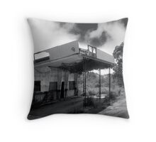 old petrol station Throw Pillow