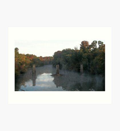 Flint River in the Fall Art Print