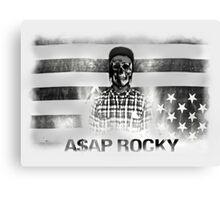 A$AP ROCKY BLACKWHITE SKULL Canvas Print