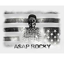 A$AP ROCKY BLACK\WHITE SKULL Photographic Print