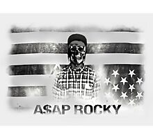 A$AP ROCKY BLACKWHITE SKULL Photographic Print