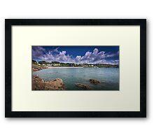 Langland and Rotherslade bays Framed Print