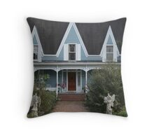 Victorian House in a Small Town Throw Pillow