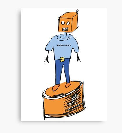 Robot Hero Canvas Print