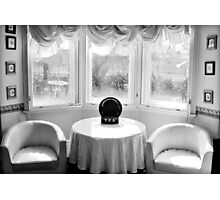 Bay Window with Table and Chairs Photographic Print