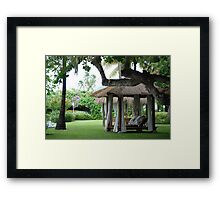 KICK OFF YOUR SHOES AND SIT RIGHT DOWN......... Framed Print