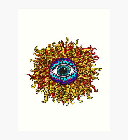 Psychedelic Sunflower - Just the flower Art Print