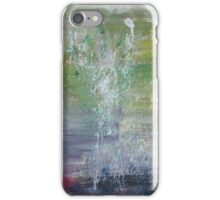Real Art Painting Of Abstract Flowers, Splashes iPhone Case/Skin