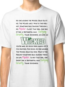 Wicked The Musical Classic T-Shirt