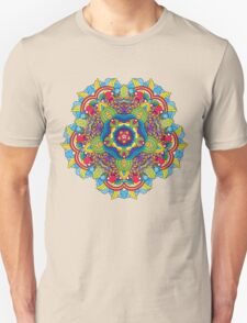Psychedelic jungle kaleidoscope ornament 36 Unisex T-Shirt