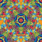 Psychedelic jungle kaleidoscope ornament 36 by Andrei Verner