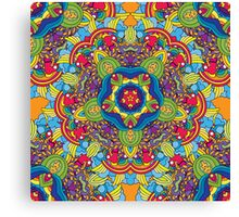 Psychedelic jungle kaleidoscope ornament 36 Canvas Print