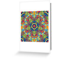 Psychedelic jungle kaleidoscope ornament 36 Greeting Card