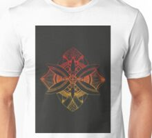 Rose Fire Flower Unisex T-Shirt