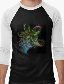 Abstract Art Space Flowers  Men's Baseball ¾ T-Shirt