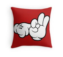 Funny Fingers. Throw Pillow