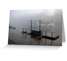 Mark Twain Showboat on the Dee River  Greeting Card