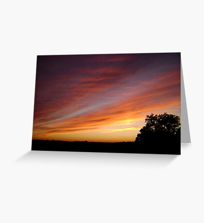 Sky Streaks Greeting Card