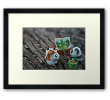 little creatures, big adventures  Framed Print