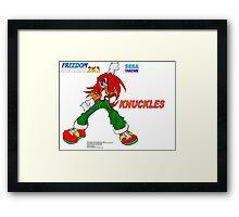 Freedom Fighter 2K3 Knuckles Framed Print
