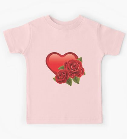 Heart with roses! Kids Tee