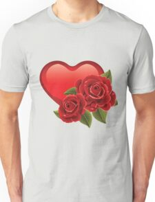 Heart with roses! Unisex T-Shirt