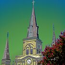 St. Louis Cathedral by Bonnie T.  Barry