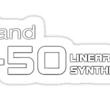 Vintage Roland D50 white Sticker