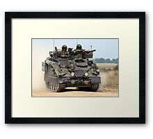 British Army FV103 Spartan Armoured Personnel Carrier Framed Print