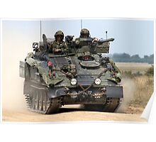 British Army FV103 Spartan Armoured Personnel Carrier Poster