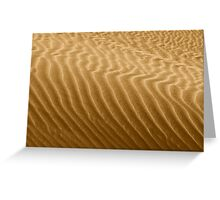 Ripples in Kelso's Singing Sand Greeting Card